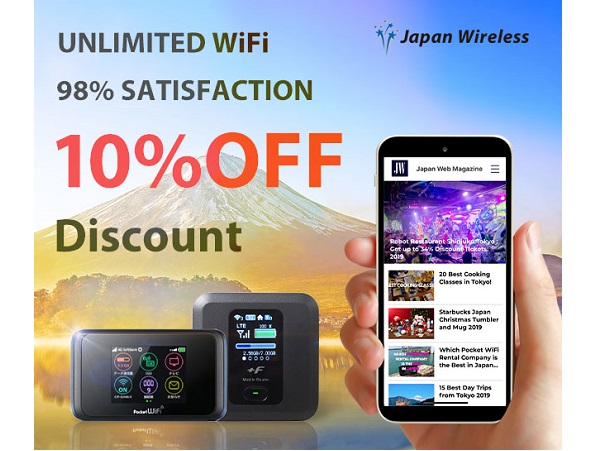 Discount for Pocket WiFi Rental