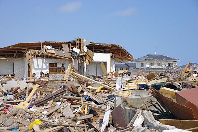 오키나와에 태풍이 휩쓸고 간 모습