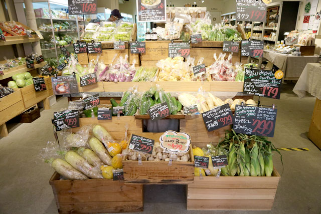 Fresh vegetables gathered from all over Japan