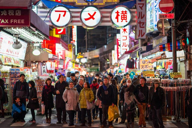 Ueno Ameyoko and Street Food