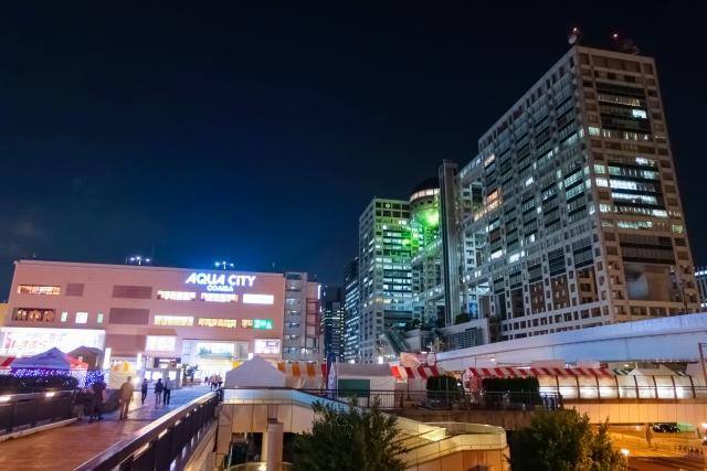 오다이바 쇼핑몰 야경