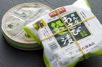 「金印わさび漬」1,350円(税込)