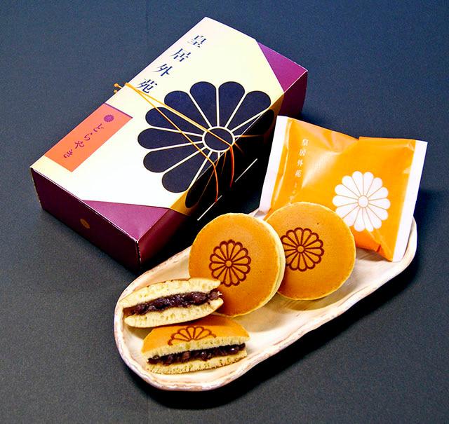 「皇居外苑 どらやき」4個入 1296円(税込)