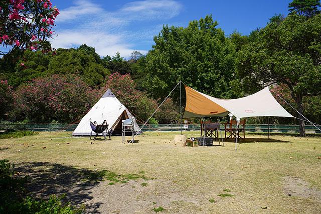 ビーチも近いキャンプ場