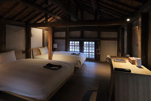 部屋は全て内装がことなり、それぞれ趣の違う滞在が可能