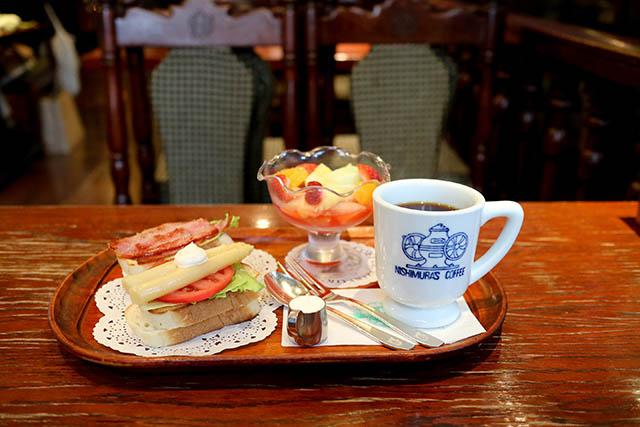 神戶「nishimura咖啡」的「Morning Set」