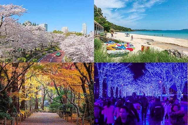 日本的四季(以東京為主)