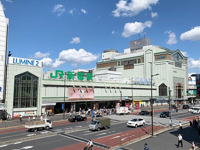 與新宿車站共構的「LUMINE」百貨公司