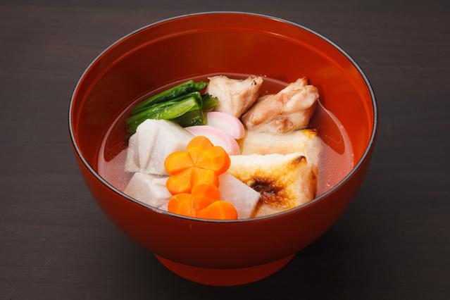 Basic sumashi-jiru style zoni eaten in Kanto region