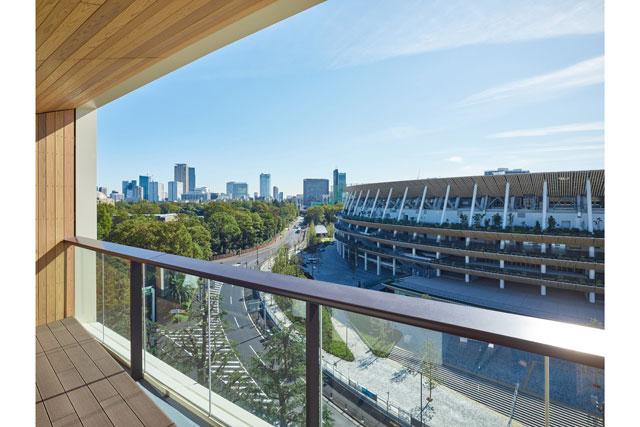 三井ガーデンホテル神宮外苑の杜プレミア 客室からの眺め