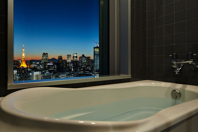 三井ガーデンホテル銀座プレミア ビューバスからの景色
