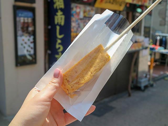 湘南しらすのたまごやき串棒 270円(税込)