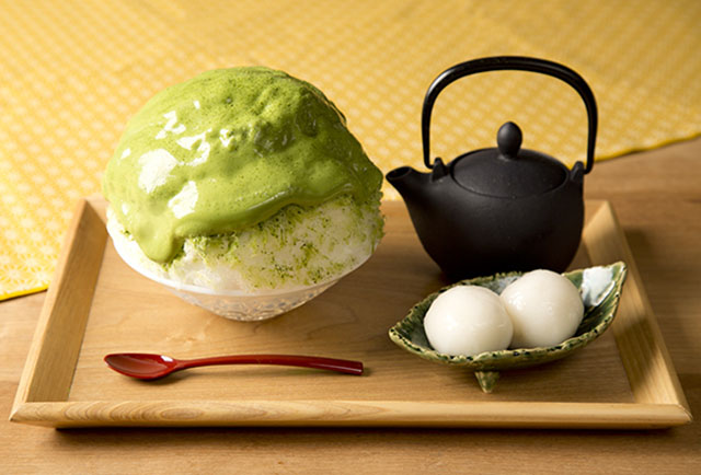 宇治抹茶かき氷(夏季限定) 990円(税別)