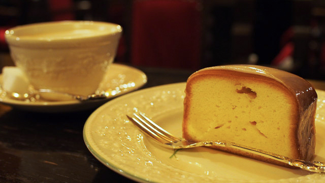 フランソア喫茶室 「ケーキセット(コーヒーor紅茶付)」1250円(税込)