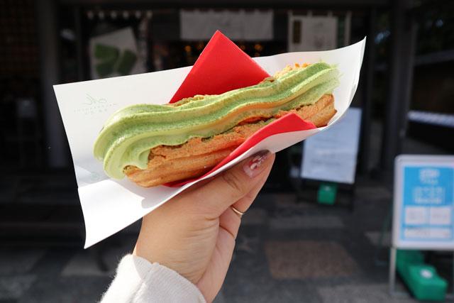 マールブランシュ お抹茶アイスエクレア「茶茶棒」400円(税込)