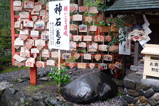 野宮神社の亀石
