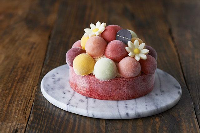 一番人気のアイスのケーキ「バルーンドフリュイ(12㎝)」4,000円(税抜)