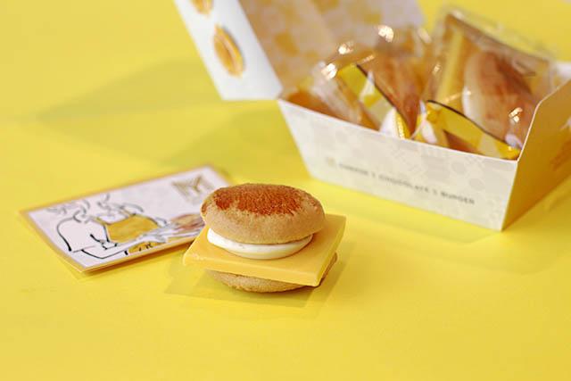 「チーズチョコレートバーガー」 3個入550円(税込)
