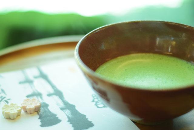 報国寺 抹茶と干菓子付 600円