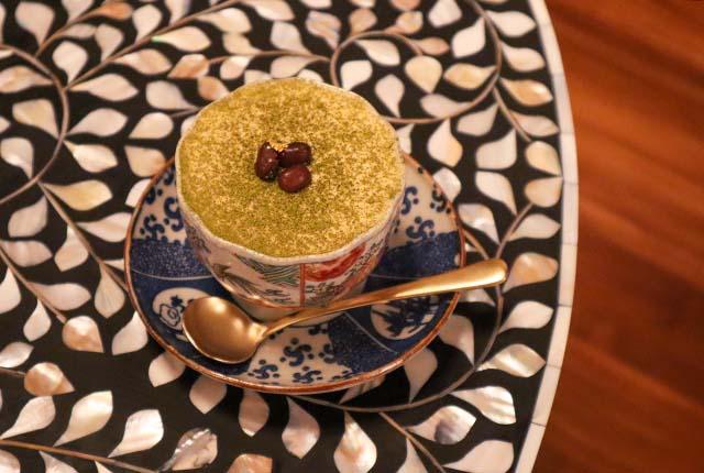 lohasbeans coffeeの抹茶ティラミス 850円(税別)