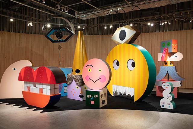 PLAY! MUSEUM 展示室 企画展『tupera tupera のかおてん.』