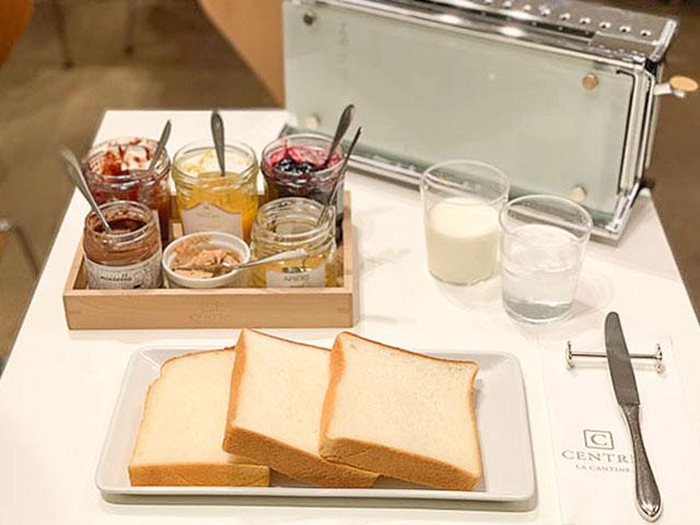 三種吐司麵包的比較套餐 果醬套餐 1512円(含稅)