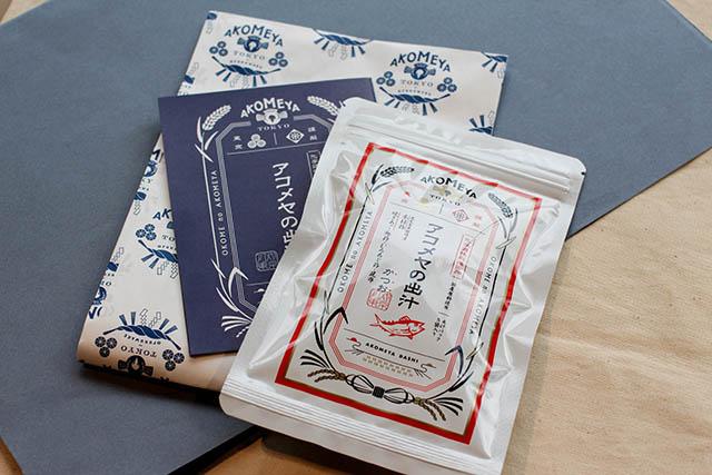 アコメヤの出汁(かつお) 5パック入り432円(税込)