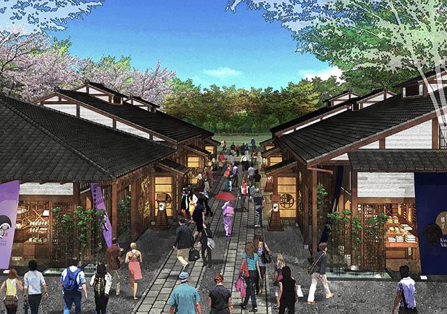 まさに城下町。名古屋城周辺の「金シャチ横丁」
