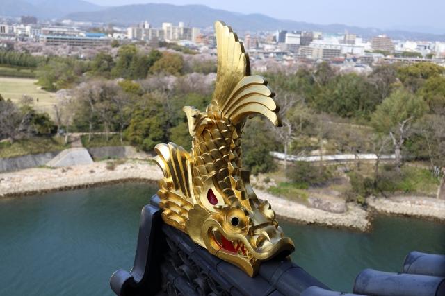 名古屋城名物・金のシャチホコ