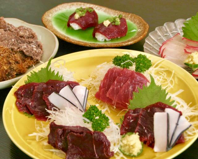 珍しい鯨料理を楽しめます ※イメージ写真