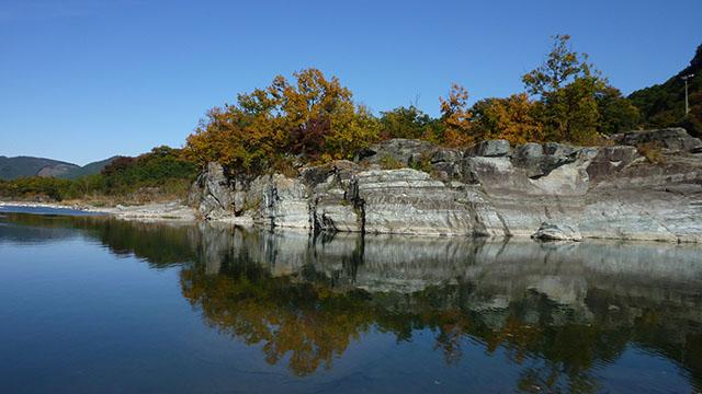 国指定名勝で、天然記念物の「長瀞岩畳」
