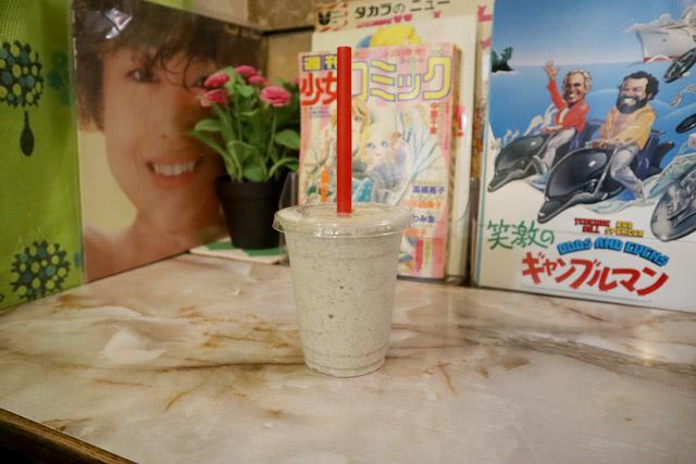 バナナジュース コリドール 「バナナジュース」290円+「黒ゴマ」30円