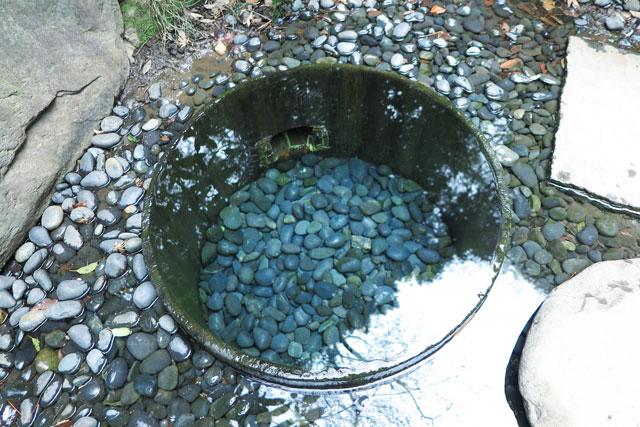 御苑の中にある有名な「清正井」