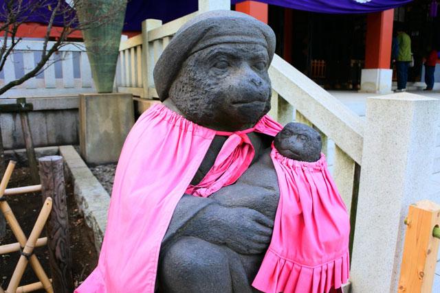 日枝神社 妻猿は良縁・安産・子授けのご利益