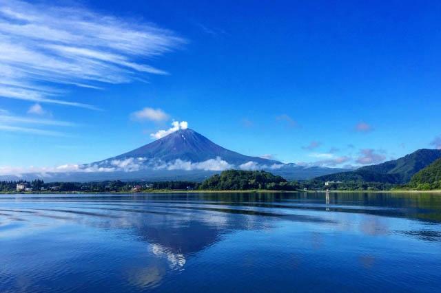 河口湖温泉 富士山と河口湖
