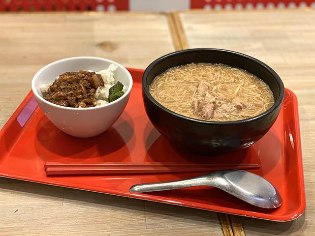 ランチメニュー「麺線セット」970円(税込)