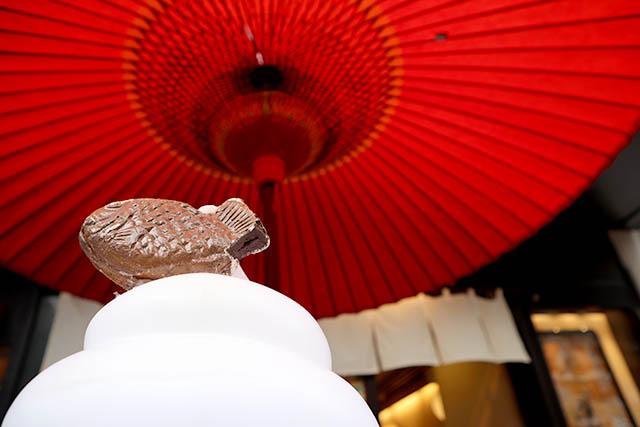 「神楽坂くりこ庵」 赤い番傘が目印!