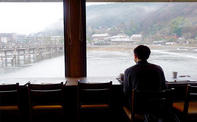 嵐山よしむら 店内からの眺めが最高です