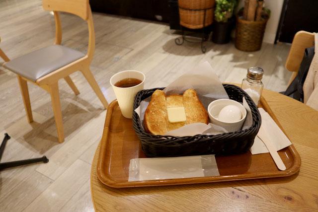 京都ねこねこ四条店 「ねこねこモーニング」418円(税込)