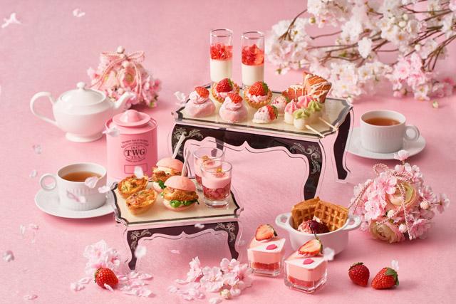 Cafe & Dining ZelkovA(ゼルコヴァ) 「ストロベリー&桜 アフタヌーンティー」