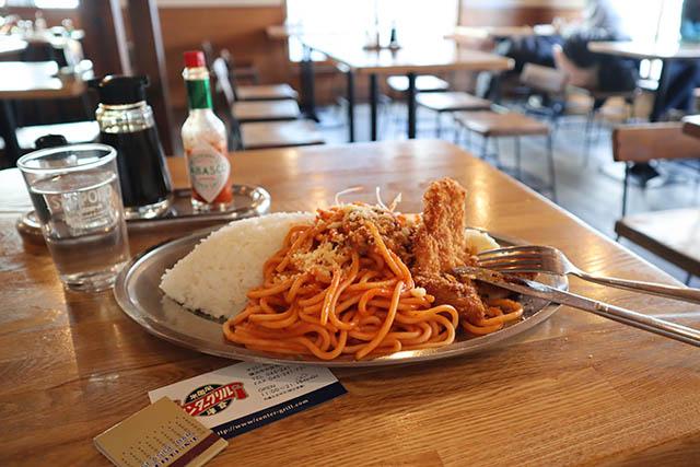 「スパランチ(イタリアンスパ・チキンカツ・サラダ・ライス)」 850円(税込)