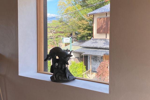 京都祇園茶寮 店内2Fからは景色が楽しめます
