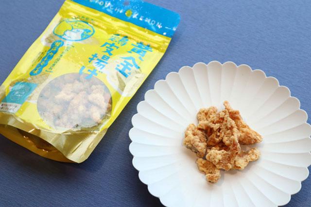 黄金鶏皮揚げ 瀬戸内レモン味 500円(税込)