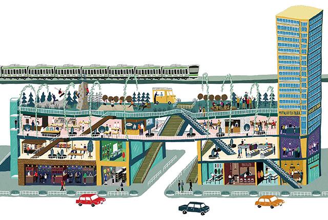 「MIYASHITA PARK(ミヤシタパーク)」全貌イメージ