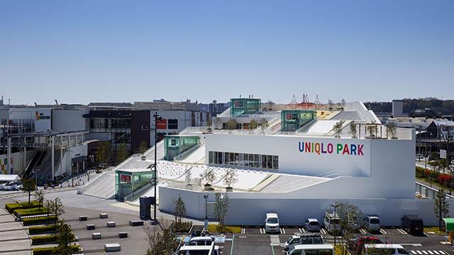 UNIQLO PARK横浜ベイサイド店の外観 写真提供:UNIQLO CO., LTD.