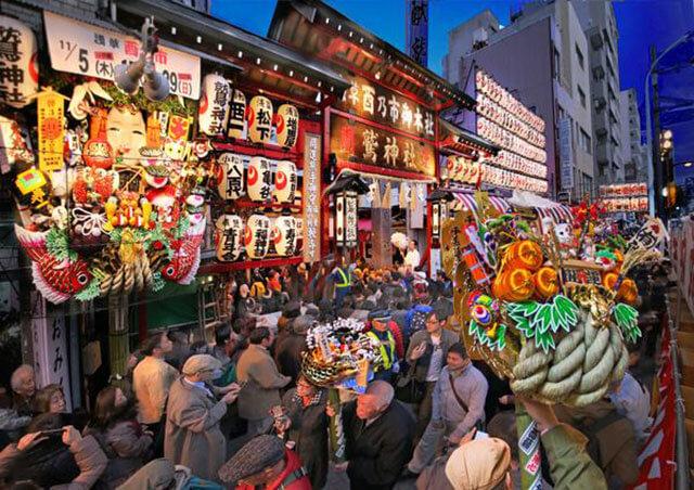 鷲神社 例年の酉の市の様子