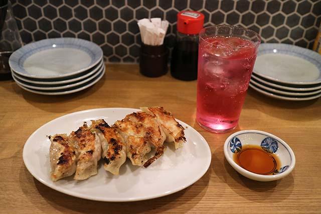 食堂つつむ 「黒豚餃子」(480円)