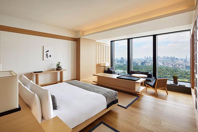 アマン東京「デラックスルーム」のお部屋は3名まで宿泊OK