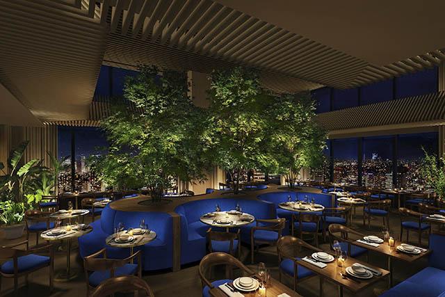 東京エディション虎ノ門のレストラン「The Blue Room」