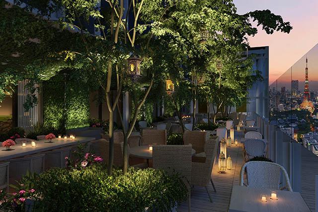 東京エディション虎ノ門のレストラン「The Jade Room + Garden Terrace」